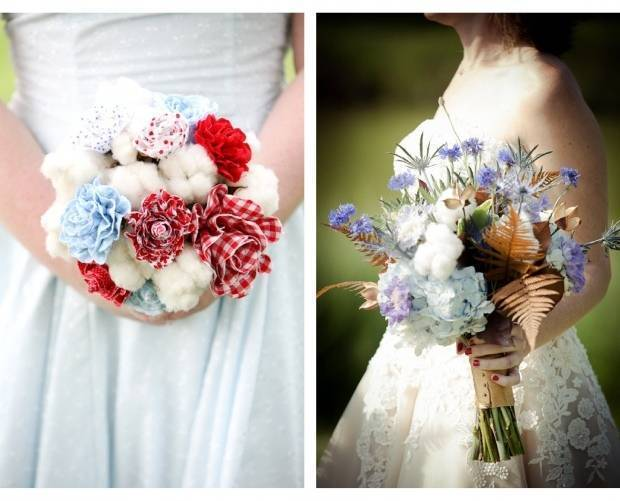 whimsical cotton bouquet