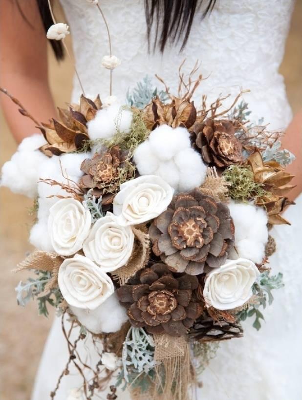 fall winter rustic wedding bouquet