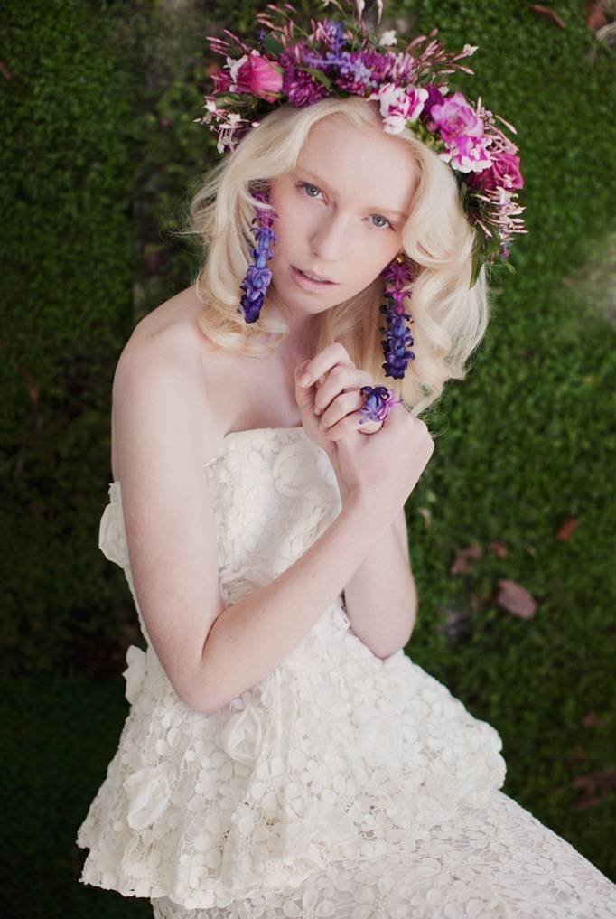 Flower Inspired Bridal Gowns by Kelsey Genna