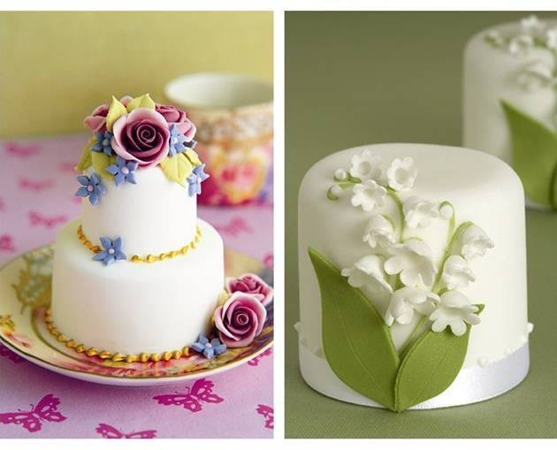 lily of the valley mini cakes