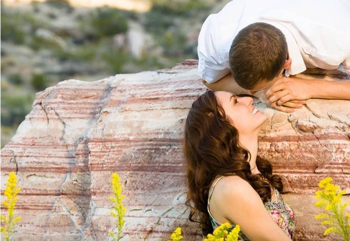 Rustic Nevada Engagement from Josh and Jen Photography