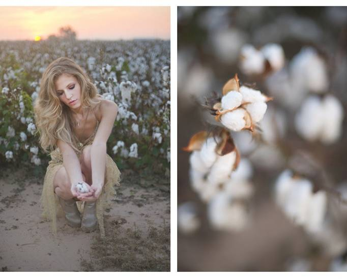cotton themed wedding