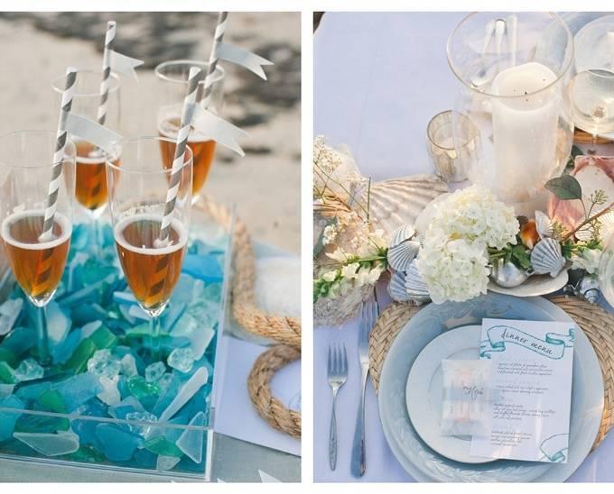 seaglass teal ocean wedding
