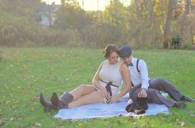 picnic engagement session