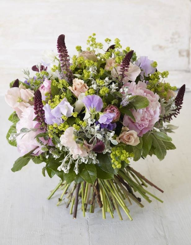 Sweet Pea And Wildflower Bouquet