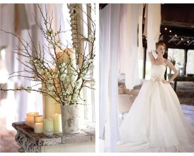 winter wedding palette