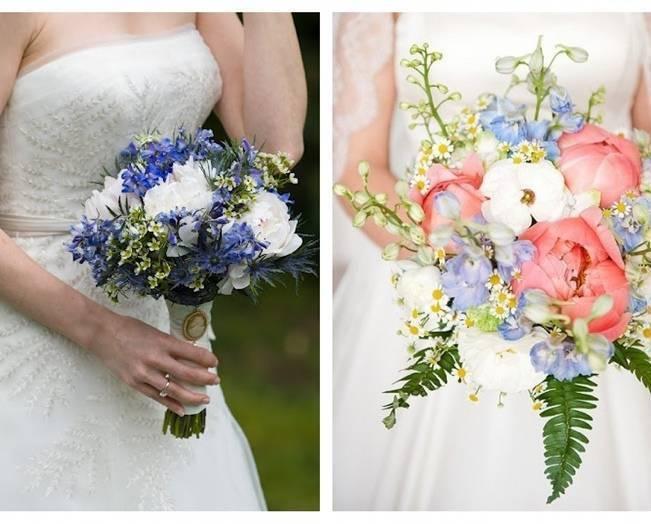 light blue delphinium bouquet