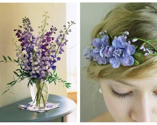 purple blue flower hair crown