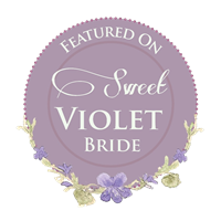 Sweet Violet Bride Badge