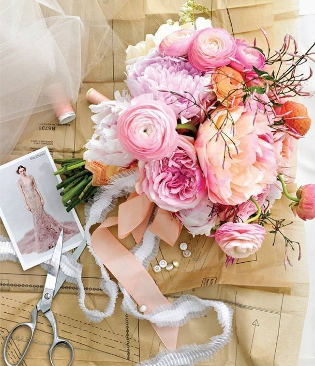 pink jasmine wedding bouquet