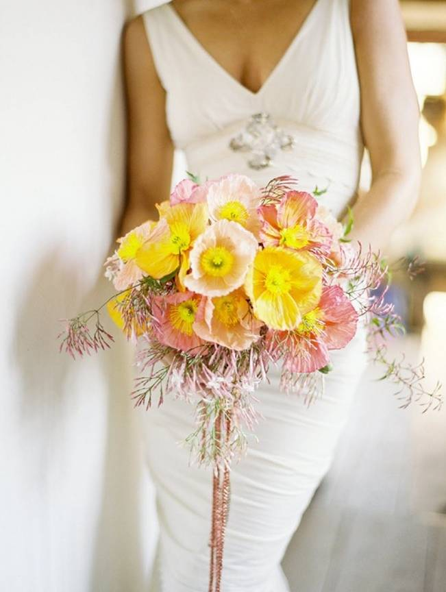 pink yellow jasmine bouquet jose villa