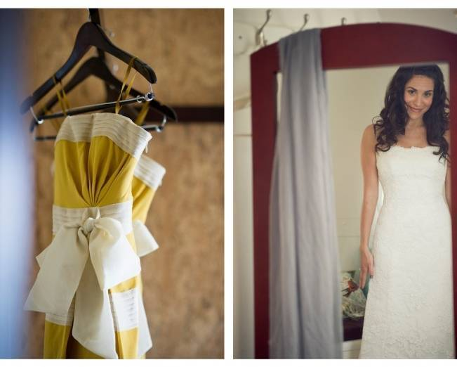 yellow bridesmaid dresses BHLDN