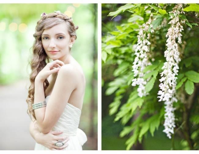 woodland princess rustic chic bride