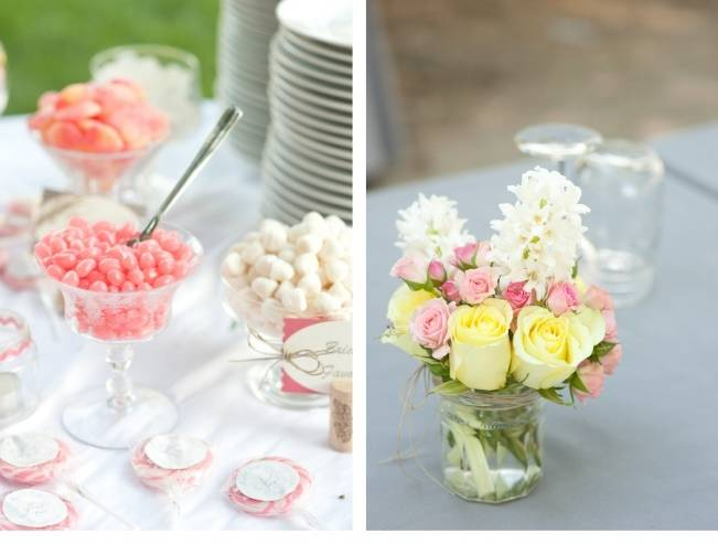 pink wedding candy