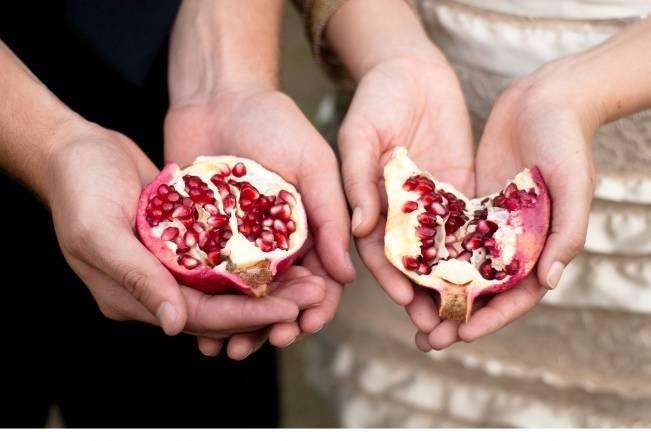 pomegranate wedding theme