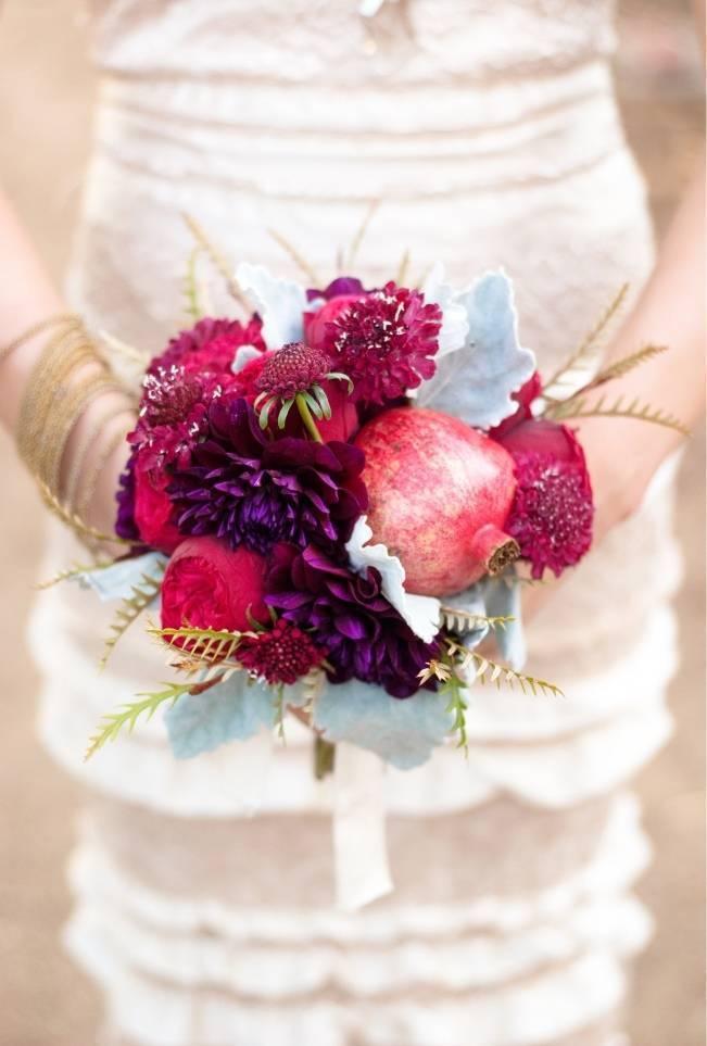 maroon red wedding bouquet