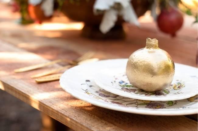 gilded pomegranate