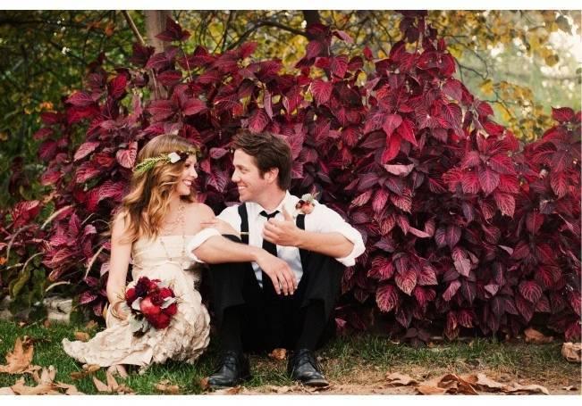 deep red wedding