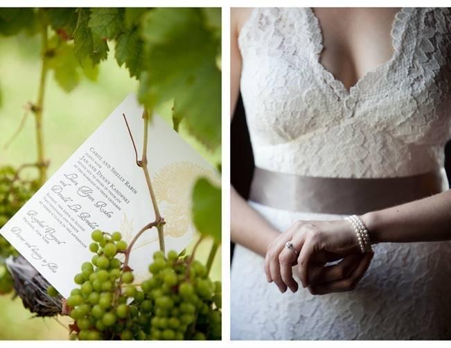 lace vineyard wedding dress