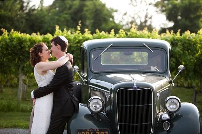vintage truck wedding prop