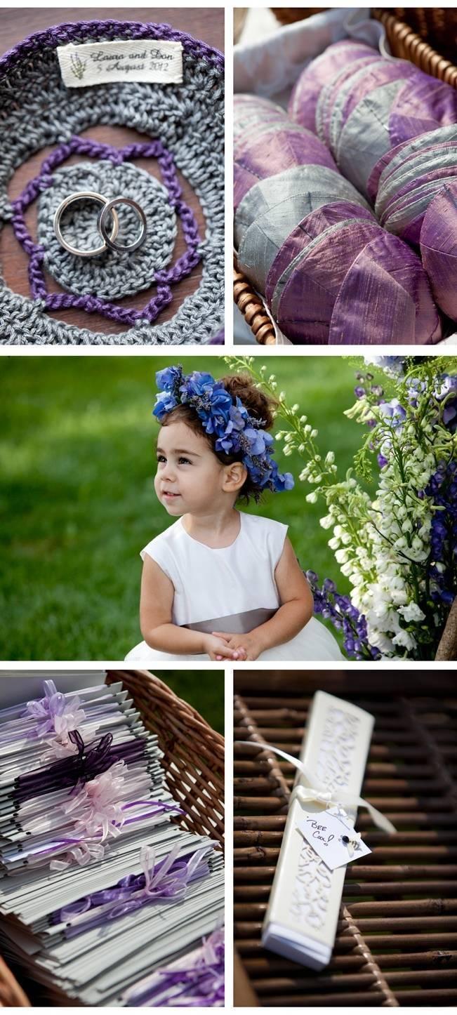 purple vineyard wedding