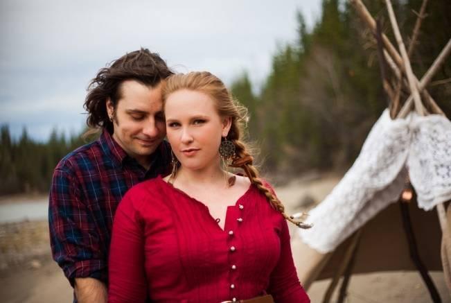 rustic romance engagement shoot