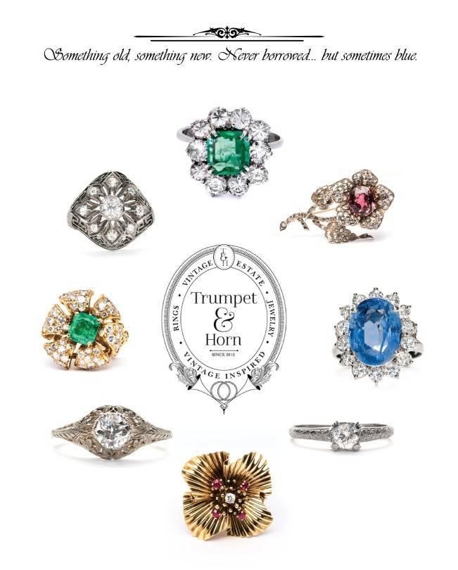 Trumpet & Horn: Vintage Engagement Rings for Modern Women