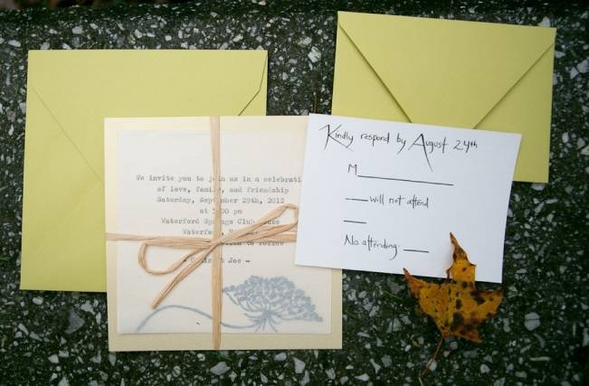 woodland wedding stationery