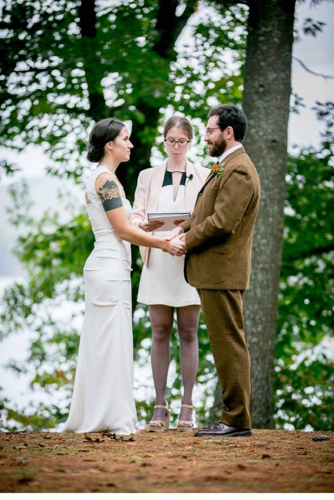 Vermont Lakeside Forest Wedding {from Ampersand Photography}