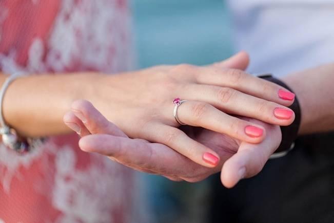 pink stone engagement ring