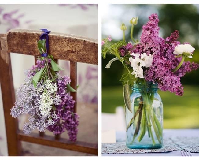 lilac centerpiece