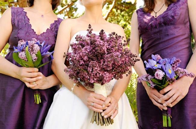 lilac and heather bouquet