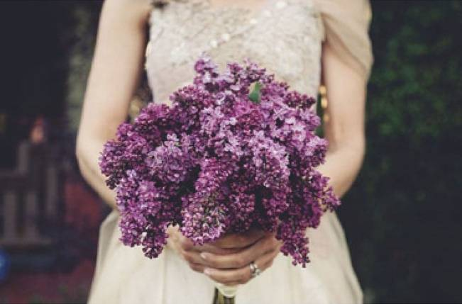 dark lilac bouquet