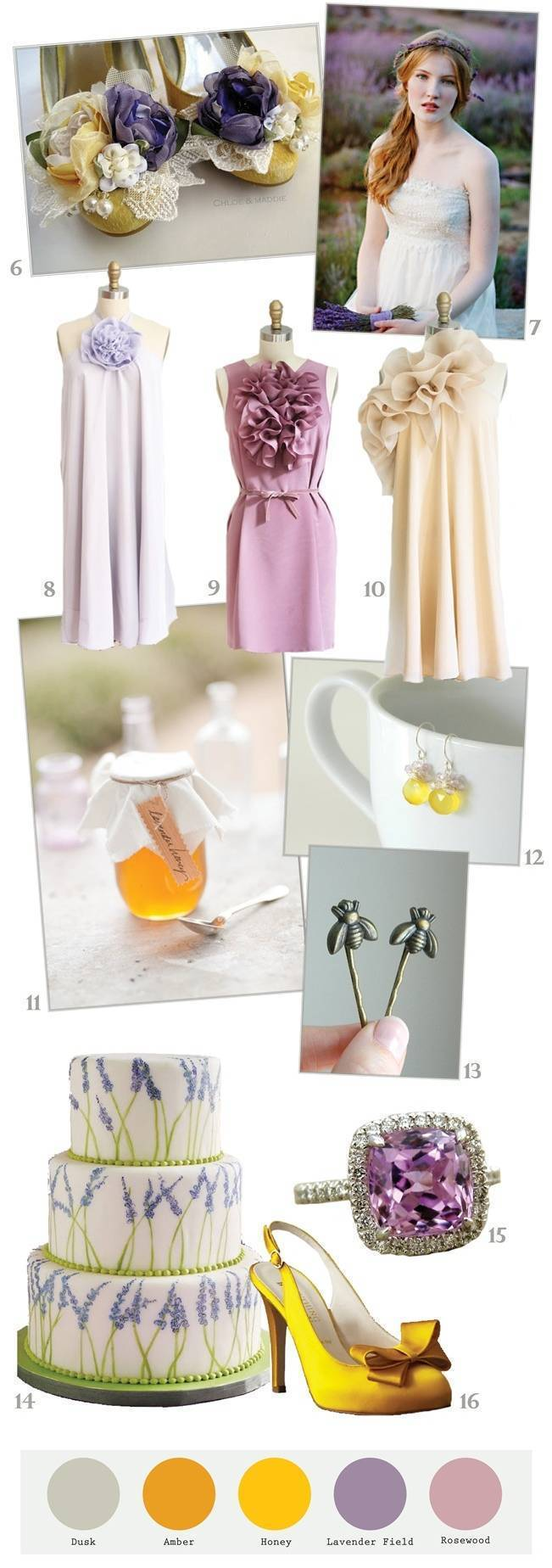 lavender and yellow wedding