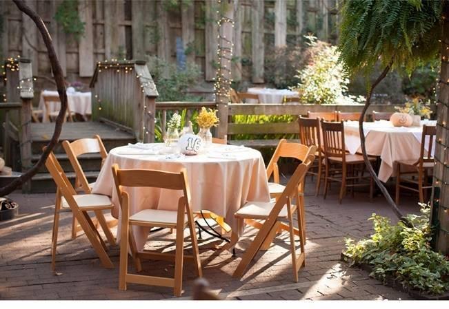outddor garden wedding reception