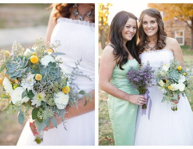 mint and purple wedding