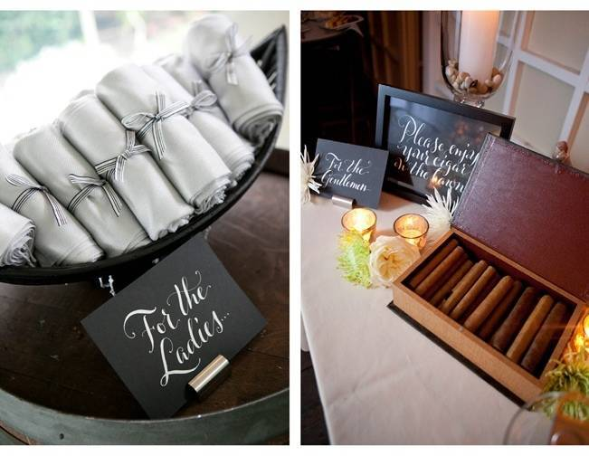 his and hers wedding favors