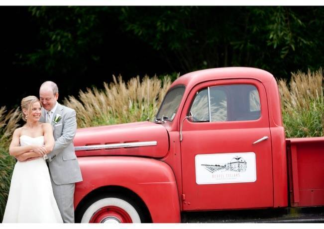 bedell cellars red vintage truck