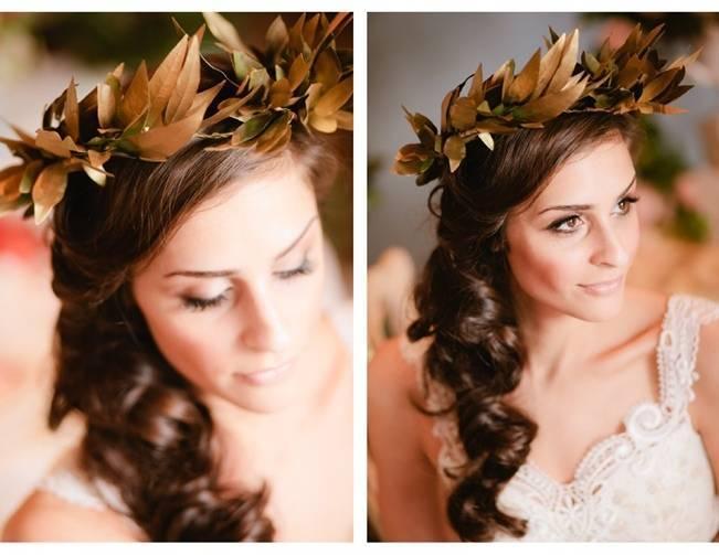 greek weddin leaf crown