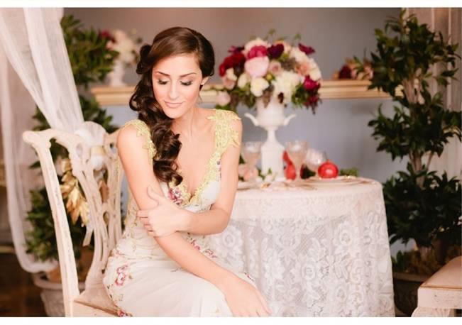 lace claire pettibone floral wedding dress