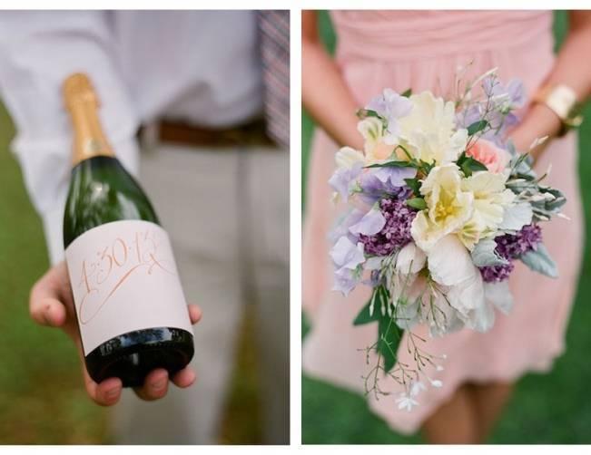 pastel sweetpea bridesmaid bouquet