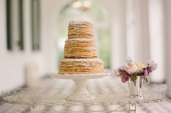 pancake crepe no-frosting wedding cake