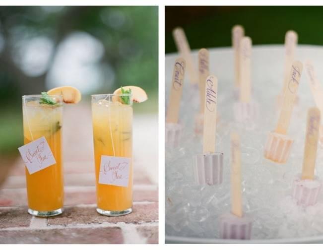 fun wedding reception drinks