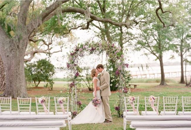blooming wedding alter arch