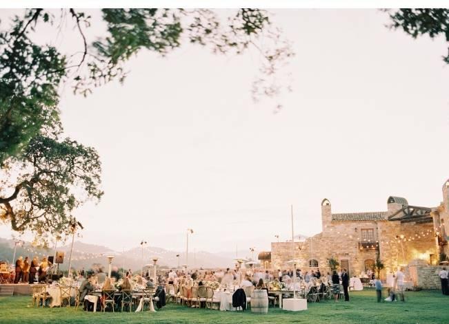 california outdoor wedding reception