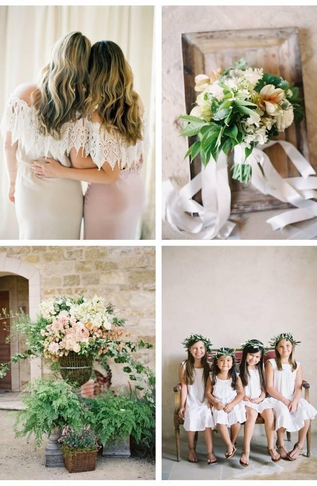 pink and green vineyard wedding