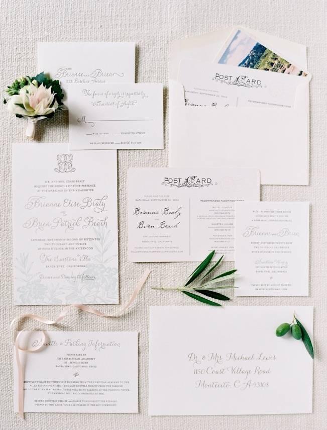 olive branch wedding invitations