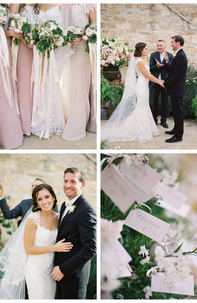 wedding ceremony at sunstone winery