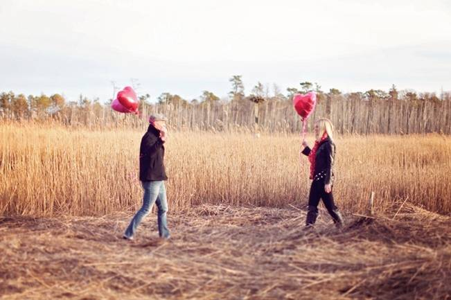 red heart engagement