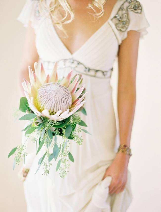 Protea wedding bouquet jose villa photography